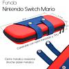 Funda Bolso Protector Jardinera Mario Nintendo Switch + Vidrio + Análogos