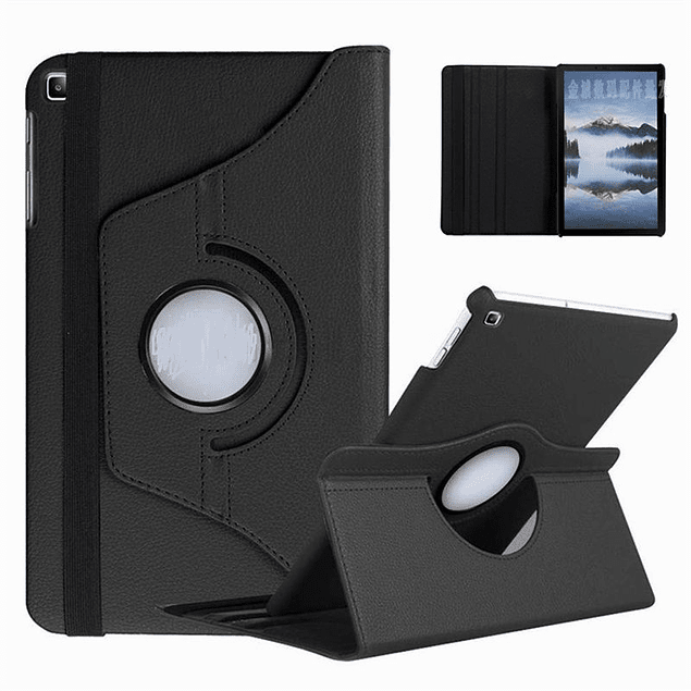 Pack Funda 360 Negra + Mica Vidrio Galaxy Tab A 8 S Pen P200 P205