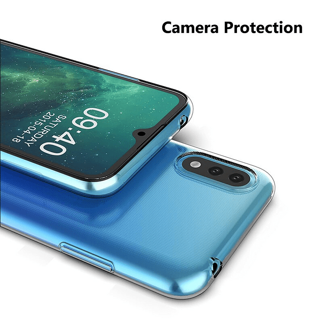 Carcasa Transparente + Mica Vidrio Samsung Galaxy A01 Zbyte