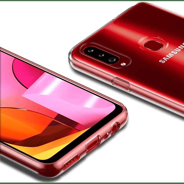 Pack Carcasa Transparente Ultra Thin + Mica Vidrio Samsung Galaxy A20s