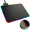 Mouse Pad Gamer Rgb Usb Con Selector De Color Luz Led