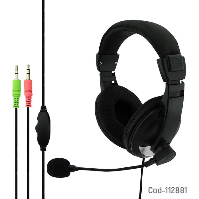 Audífonos con Micrófono PC Plug 3.5mm