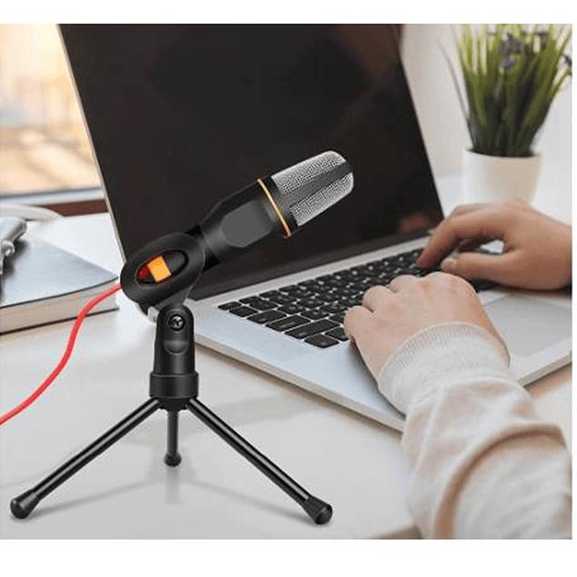 Micrófono Condensador Streaming + Trípode Youtuber Zoom 1.8m