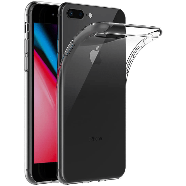 Pack Carcasa Transparente + Mica Vidrio iPhone 7 - 8 Plus