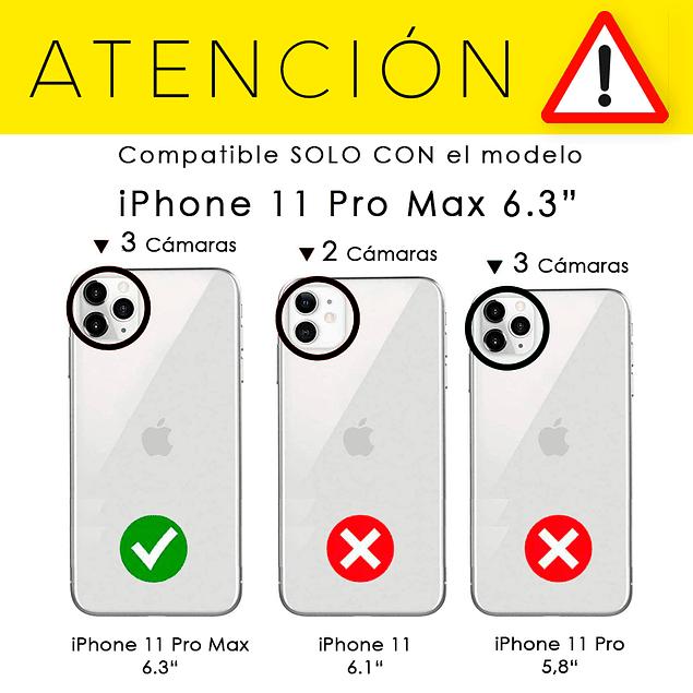 Pack Carcasa Transparente + Mica Vidrio iPhone 11 Pro Max