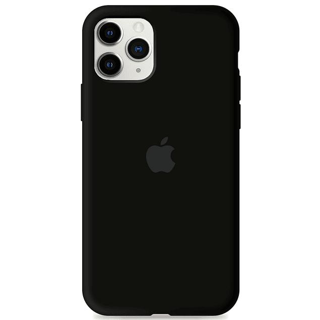 Carcasa Negra Silicona Logo Apple iPhone 11 Pro Max