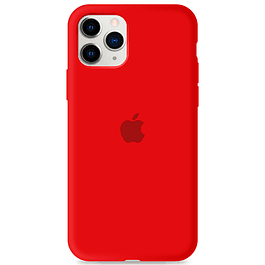 Carcasa Rojo Silicona Logo Apple iPhone 11 Pro Max