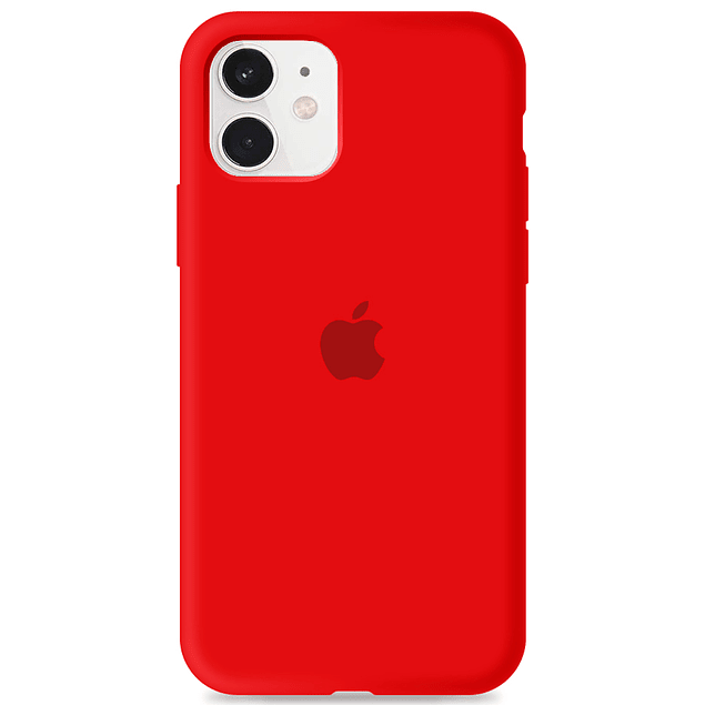 Carcasa Rojo Silicona Logo Apple iPhone 11