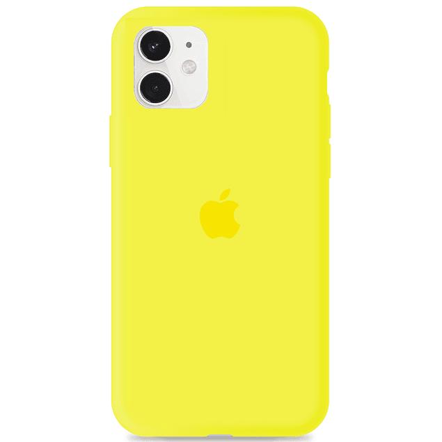 Carcasa Amarillo Silicona Logo Apple iPhone 11