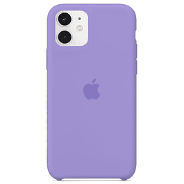 Carcasa Violeta Silicona Logo Apple iPhone 11