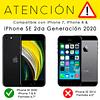Pack Carcasa Transparente Ultra Thin + Mica Vidrio iPhone SE 2020