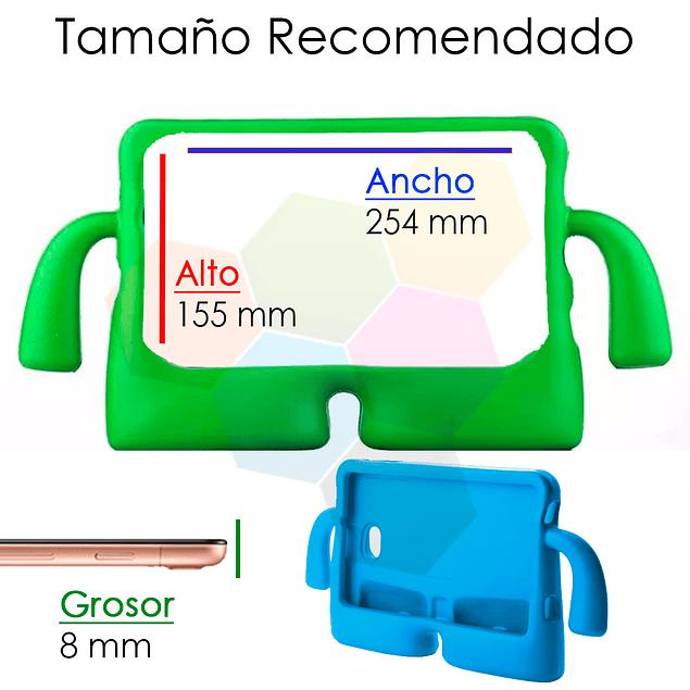 Carcasa Silicona Antigolpes Tablet 10.1 Rojo Samsung T580 T585