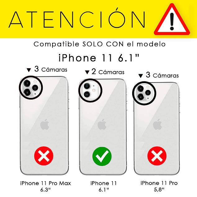 Pack Carcasa Transparente Ultra Thin Orificio + Mica Vidrio iPhone 11