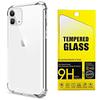 Pack Carcasa Transparente Reforzada + Mica Vidrio iPhone 11