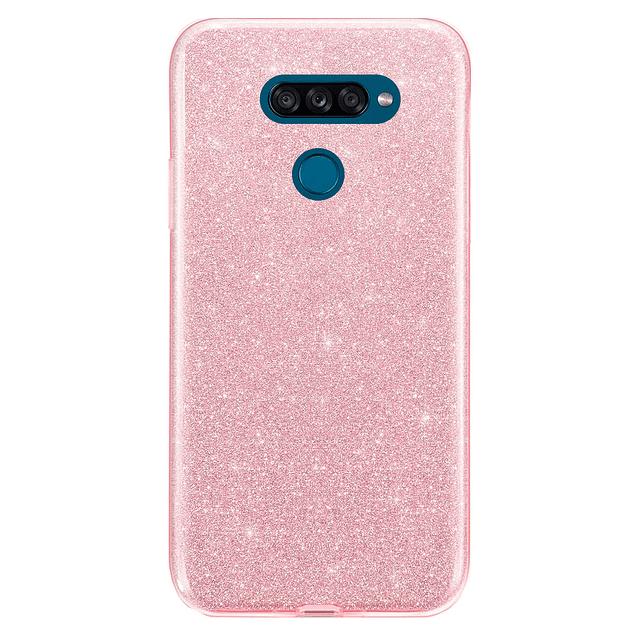 Carcasa Glitter Brillo Rosa LG K50s