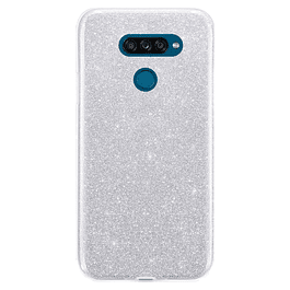Carcasa Glitter Brillo Gris LG K50s