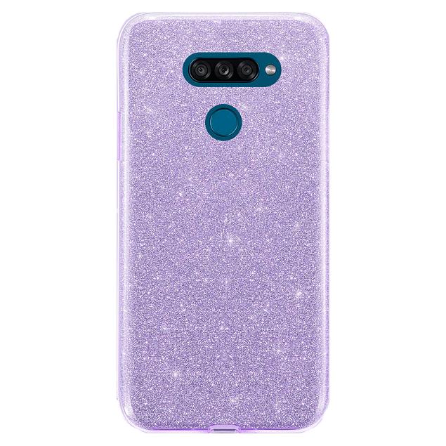 Carcasa Glitter Brillo Morado LG K50s