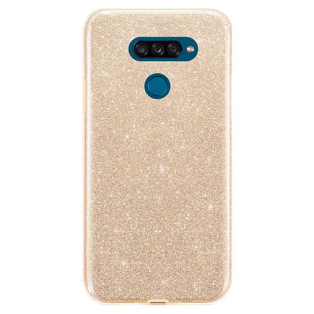 Carcasa Glitter Brillo Dorado LG K50s