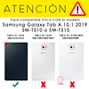 Pack Funda 360 Morado + Vidrio Templado Galaxy Tab A 10.1 2019 T510 T515