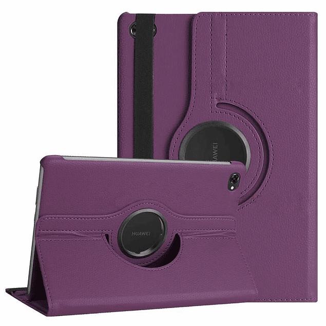 Pack Funda 360 Morado + Mica Vidrio Galaxy Tab A 8 S Pen P200 P205