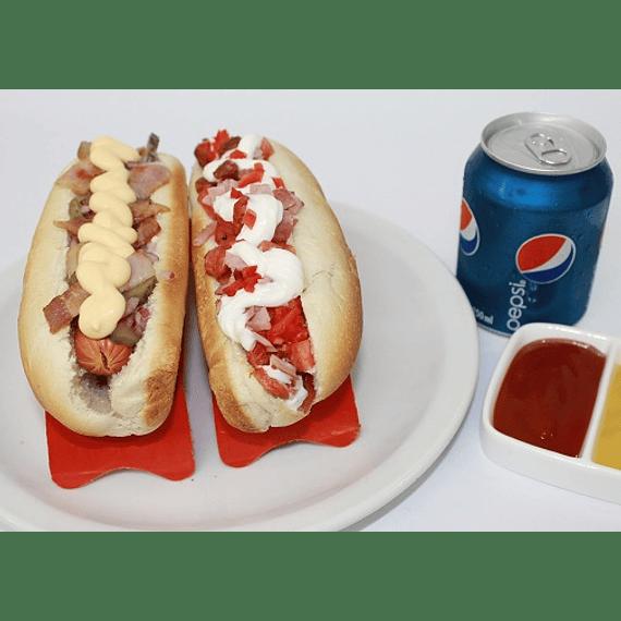As Español + Hot dog Gringo + bebida lata