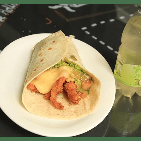 Fajita Guacamole- Pollo panko + bebida mini