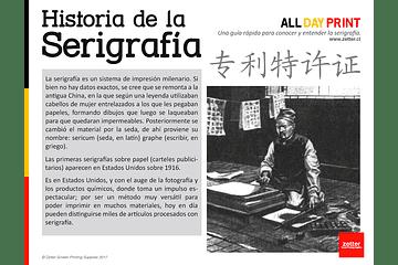 Historia de la serigrafía