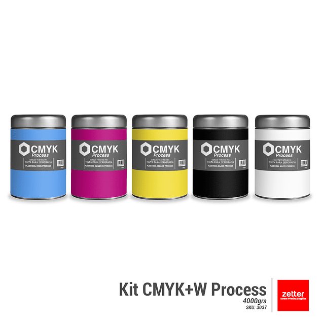 Kit CMYK+W Process