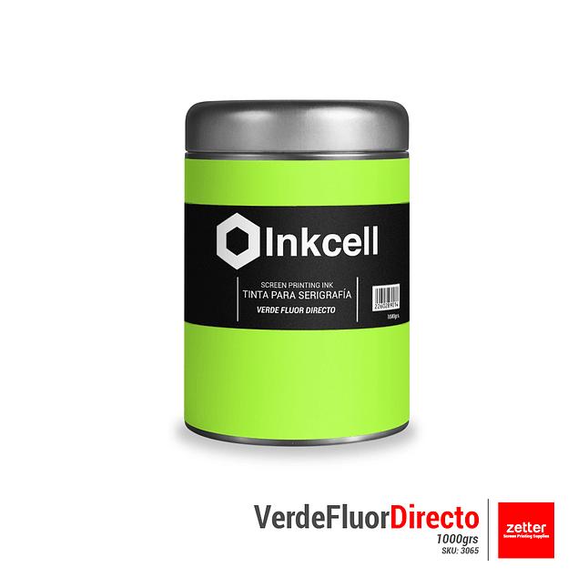 Tinta Base al Agua Verde Fluor Directo