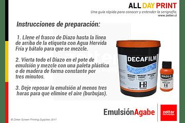 ¿Cómo preparar emulsión Agabe Decafilm?