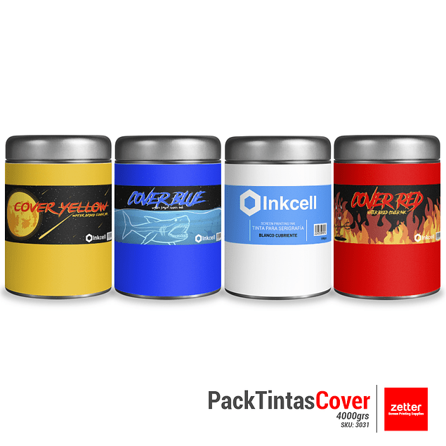 Pack Tintas Cover Inkcell