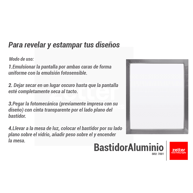 Bastidor Aluminio 120 Hilos