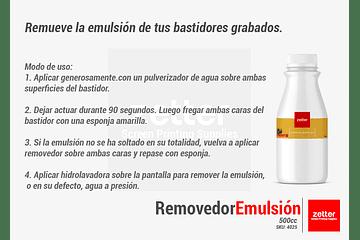 ¿Cómo remover la emulsión de tu bastidor?