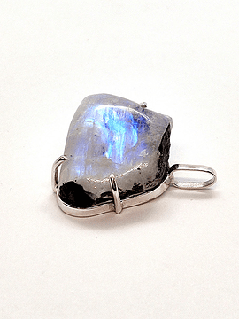Dije Piedra Luna Arcoíris en bruto