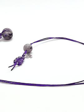 Collar Frecuencia Violeta - Amatista y Charoita