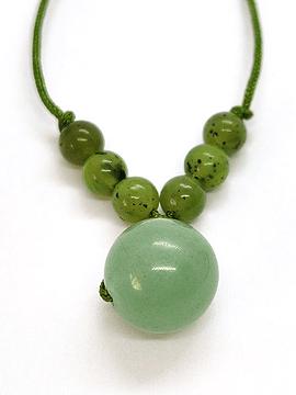 Collar Frecuencia Verde - Jade,  Aventurina, Peridoto