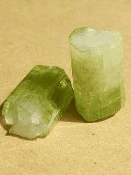 Turmalina Verde - 1 unidad de 1,5 x 1 cm