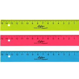 Regla KUM L1-Flexi. 15 cm Neon