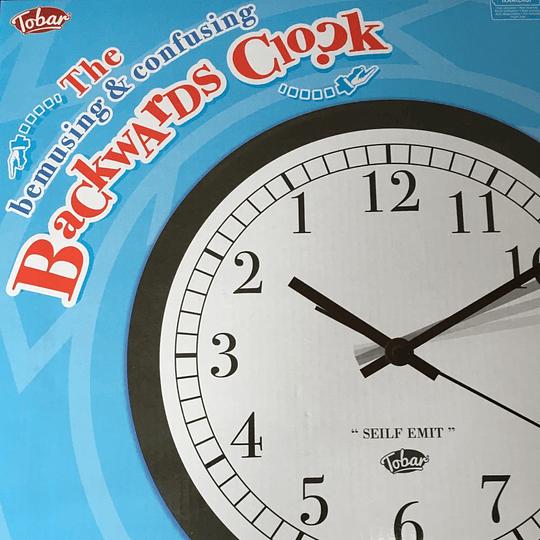 Reloj de Pared Zurdo Anti-horario