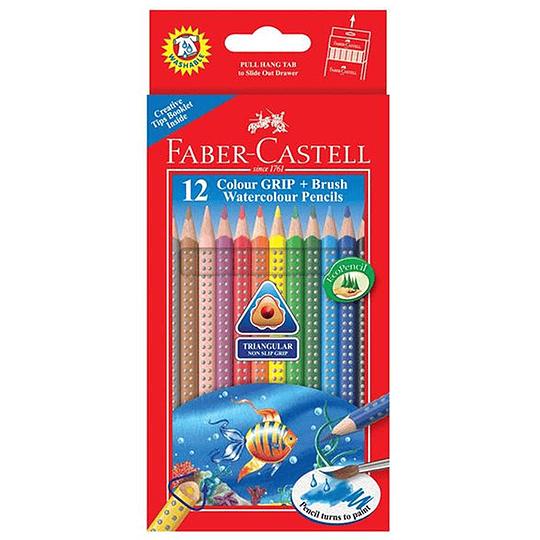 Lápices de Colores Triangular Colour Grip Acuarelable 12 colores.
